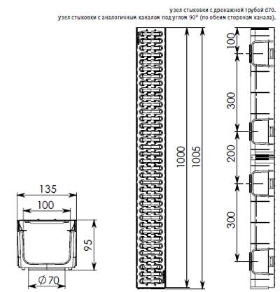 Схема пластикового лотка серии Лайт