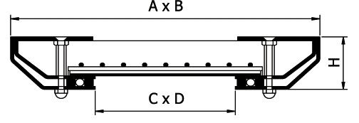Схема ревизионного стального люка