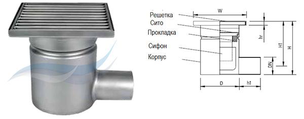 Трап мини W150/50H1
