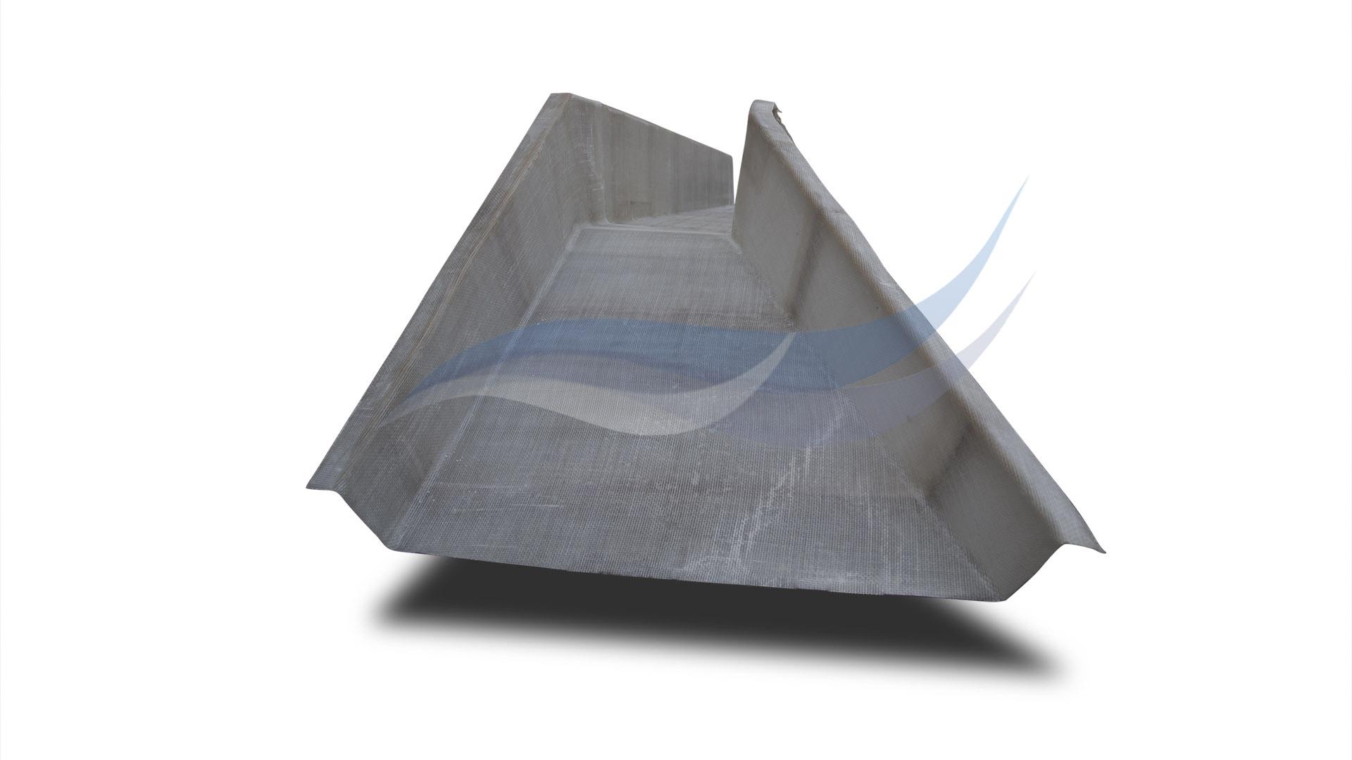 Приемный раструб правый из композитного материала