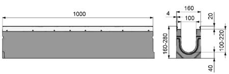 Бетонный канал серии супер арт 8000