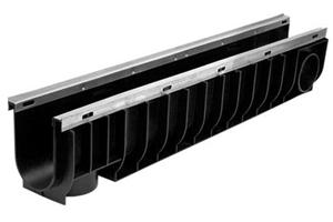 Лоток водоотводный пластиковый усиленныйDN100 ЛВ 10.14,5.18,5